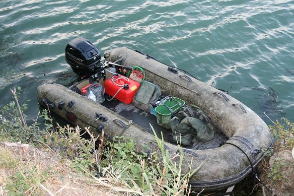 Wallerangeln mit Boot