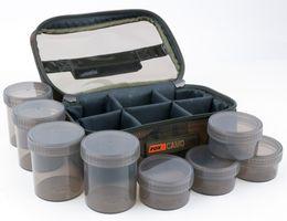 Fox Camolite Glug 8 pot case 23x16x10cm - Ködertasche für Angelköder, Tackletasche für Boilies & Pellets, Angeltasche für Köder