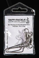 Taffi Tackle Wirbel Ball Bearing Swivel with Safety Snap 125kg Kugellagerwirbel