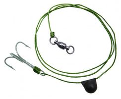 Black Cat Treble Bait Fish Rig 4/0 100kg