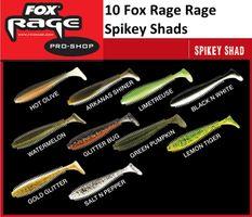 10 Fox Rage Spikey Shad Gummifische 9cm