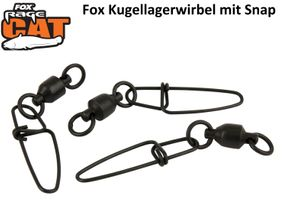 Fox Rage Cat Ball Bearing Snap Link Swivels