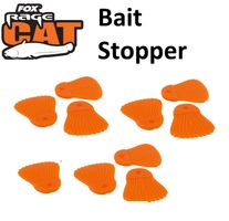 Fox Rage Cat Bait Fins Bait Stopper, Köderstopper, 10 Stück, orange