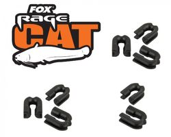 8 Fox Rage Cat Mono Crimp Curve Adapters, Wallerangeln, Welsangeln, 8 Stück, Adapter für Mono Welsvorfach