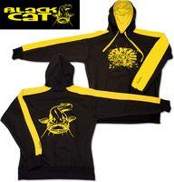 Black Cat Kapuzen-Sweatshirt Hoody gelb/schwarz