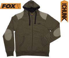 Fox Chunk Zipped Hoody Khaki Kapuzenpullover