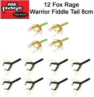 12 Fox Rage Warrior Fiddle Tail 8cm Gummifische
