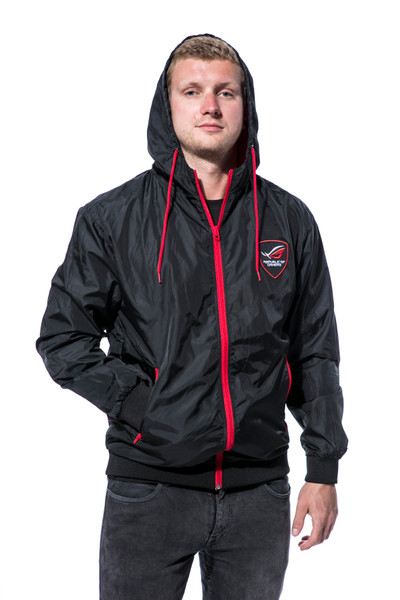 Unisex Windrunner - black/red