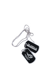 ROG Gaming Dog Tag Set - black mat