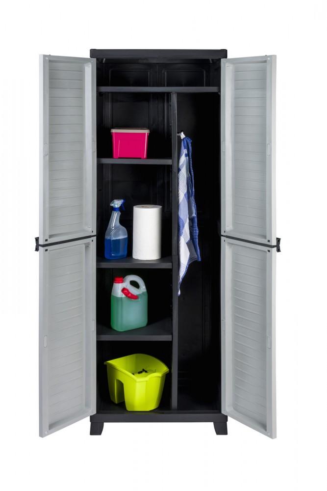 kunststoffschrank spindschrank besenschrank schrank mit besenfach putzschrank ebay. Black Bedroom Furniture Sets. Home Design Ideas