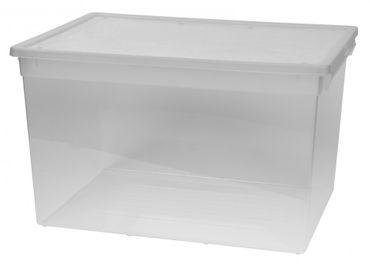 2 x Aufbewahrungsbox Sammelbox Lagerbox Stapelbox Klarsichtbox Regalbox Box XXL