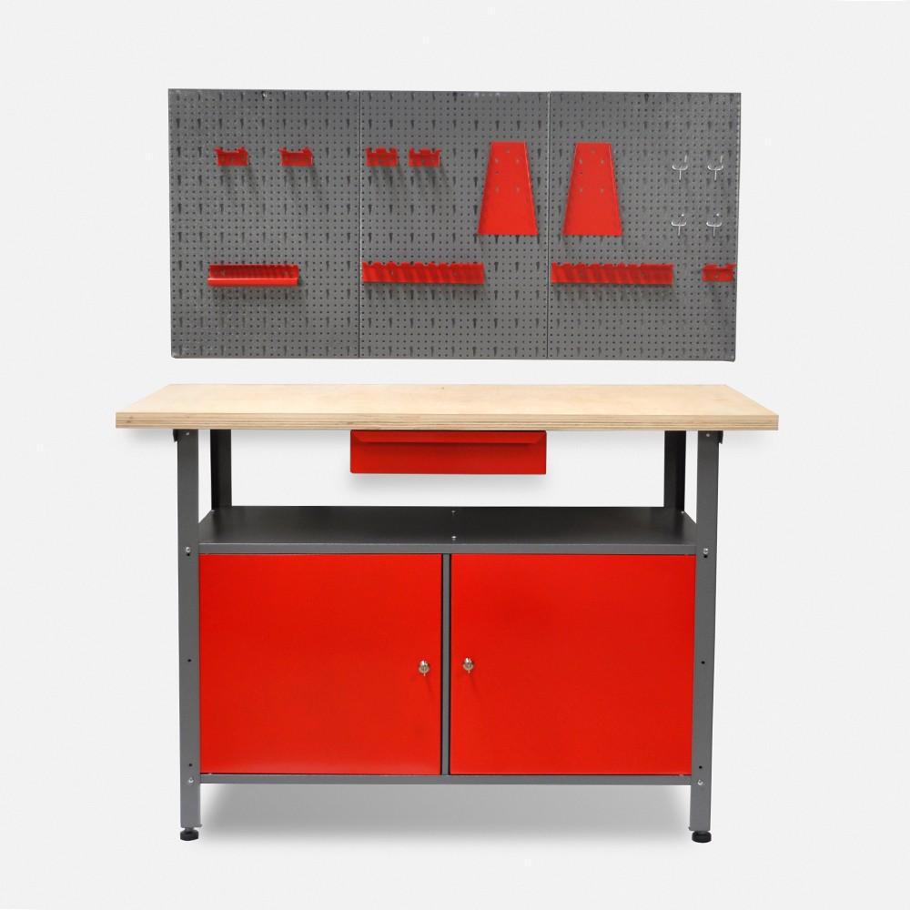 werktisch werkbank werkstatt lochwand werkzeugwand kunststoffschrank schrank top ebay. Black Bedroom Furniture Sets. Home Design Ideas