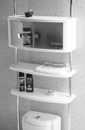 teleskopregal badregal ohne bohren badezimmerschrank. Black Bedroom Furniture Sets. Home Design Ideas