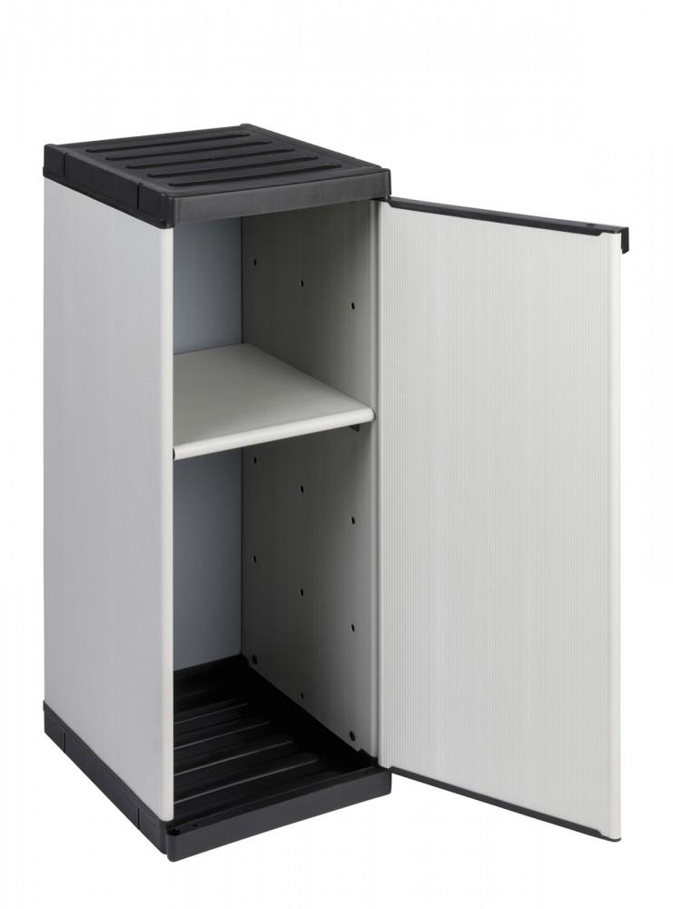 kunststoffschrank nischenschrank beistellschrank gartenschrank putzmittelschrank ebay. Black Bedroom Furniture Sets. Home Design Ideas