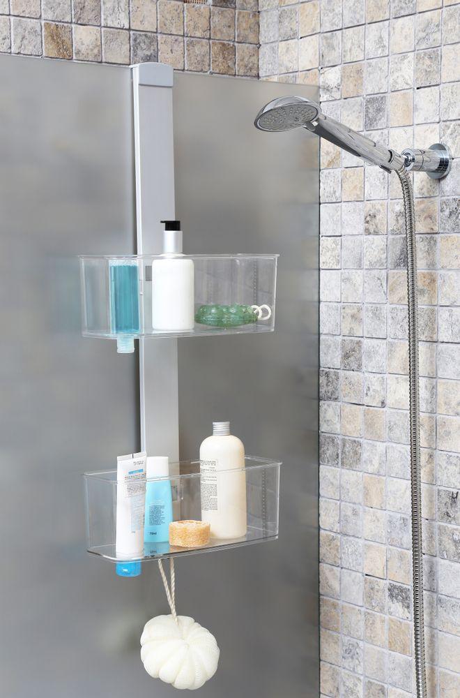 xl duschregal wandregal badregal badezimmerregal regal f r die dusche aluminium ebay. Black Bedroom Furniture Sets. Home Design Ideas