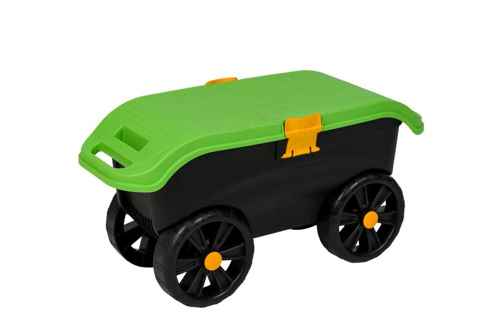 gartenwagen rollbarer gartenhocker handwagen transportwagen rollsitz roll kneel ebay. Black Bedroom Furniture Sets. Home Design Ideas