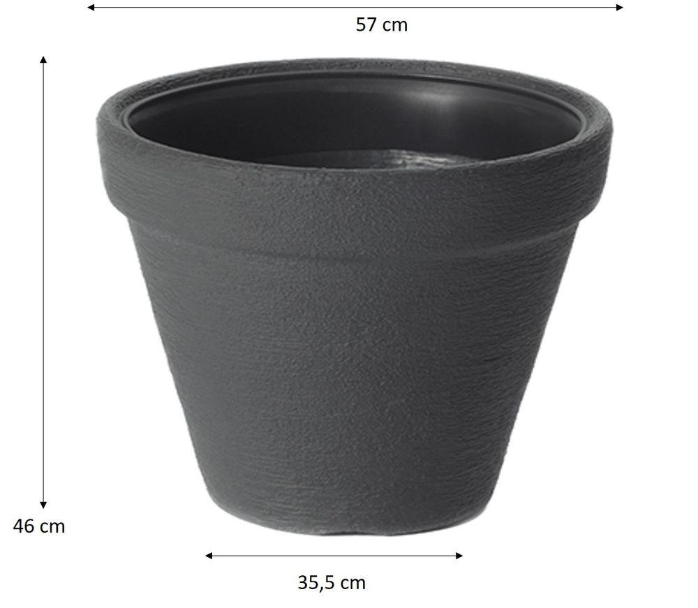 xxl pflanzk bel pflanztopf blumentopf blumenk bel kunststoff ca 60 anthrazit ebay. Black Bedroom Furniture Sets. Home Design Ideas