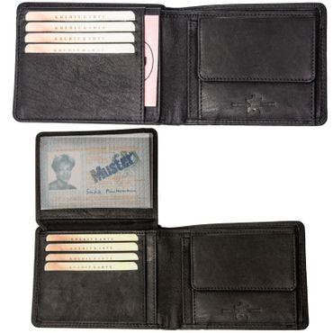 Herren Leder Geldbörse Geldbeutel Brieftasche echtLeder Groß und klein Männer – Bild 3