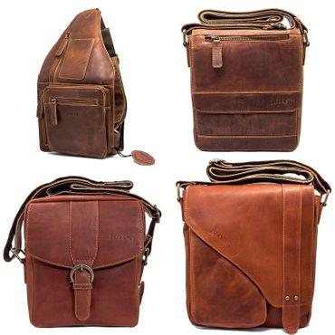 Herren Damen Tasche Schultertasche Umhängetasche Henkel CrossOver Messenger bag – Bild 1