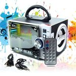 Tragbare Box MP3 Player Musikbox mobile Lautsprecher Radio USB Micro-SD Akku LED 001