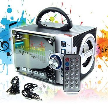 Tragbare Box MP3 Player Musikbox mobile Lautsprecher Radio USB Micro-SD Akku LED – Bild 1