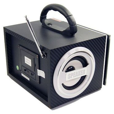 Tragbare Box MP3 Player Musikbox mobile Lautsprecher Radio USB Micro-SD Akku LED – Bild 7