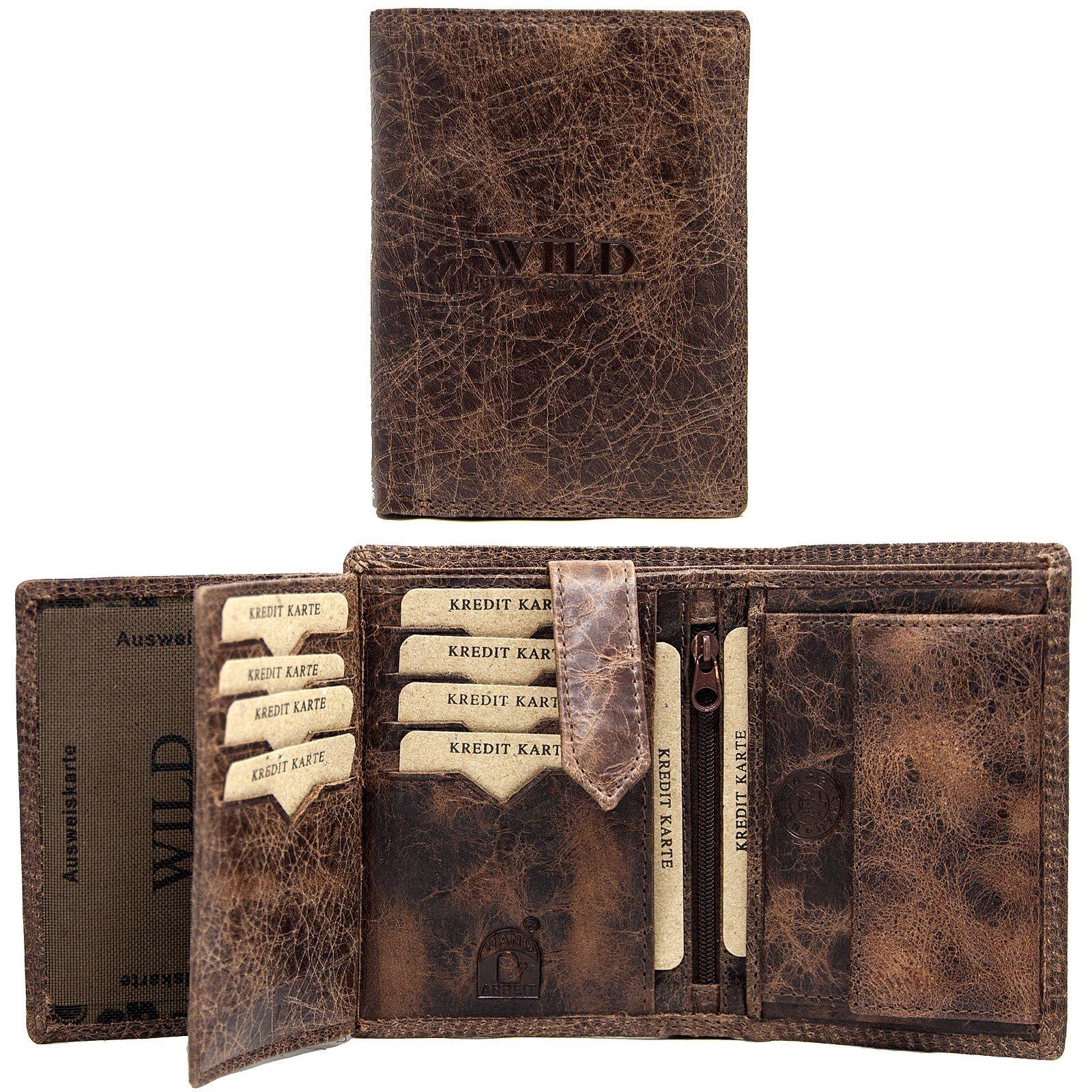 cdf1f13748c0e Business Herren Leder Geldbörse Geldbeutel Brieftasche Luxus echt Leder  Männer