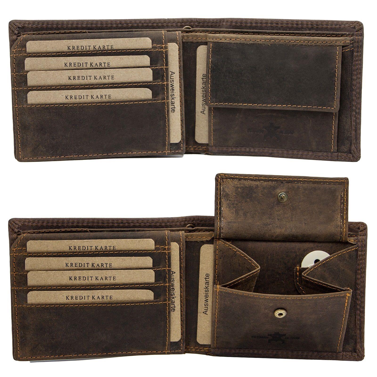 8883ae353e947 Luxus 111Herren Büffelleder Geldbörse Geldbeutel Brieftasche echt leder top  Motive