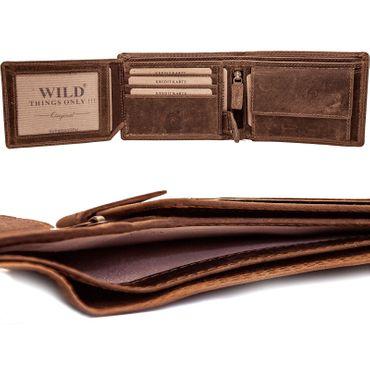Luxus 111Herren Büffelleder Geldbörse Geldbeutel Brieftasche echt leder top Motive – Bild 10