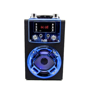 1 Weg Karaoke Box Lautsprecher Bluetooth Musik Sound Box USB Radio MP3 SD Blau – Bild 2