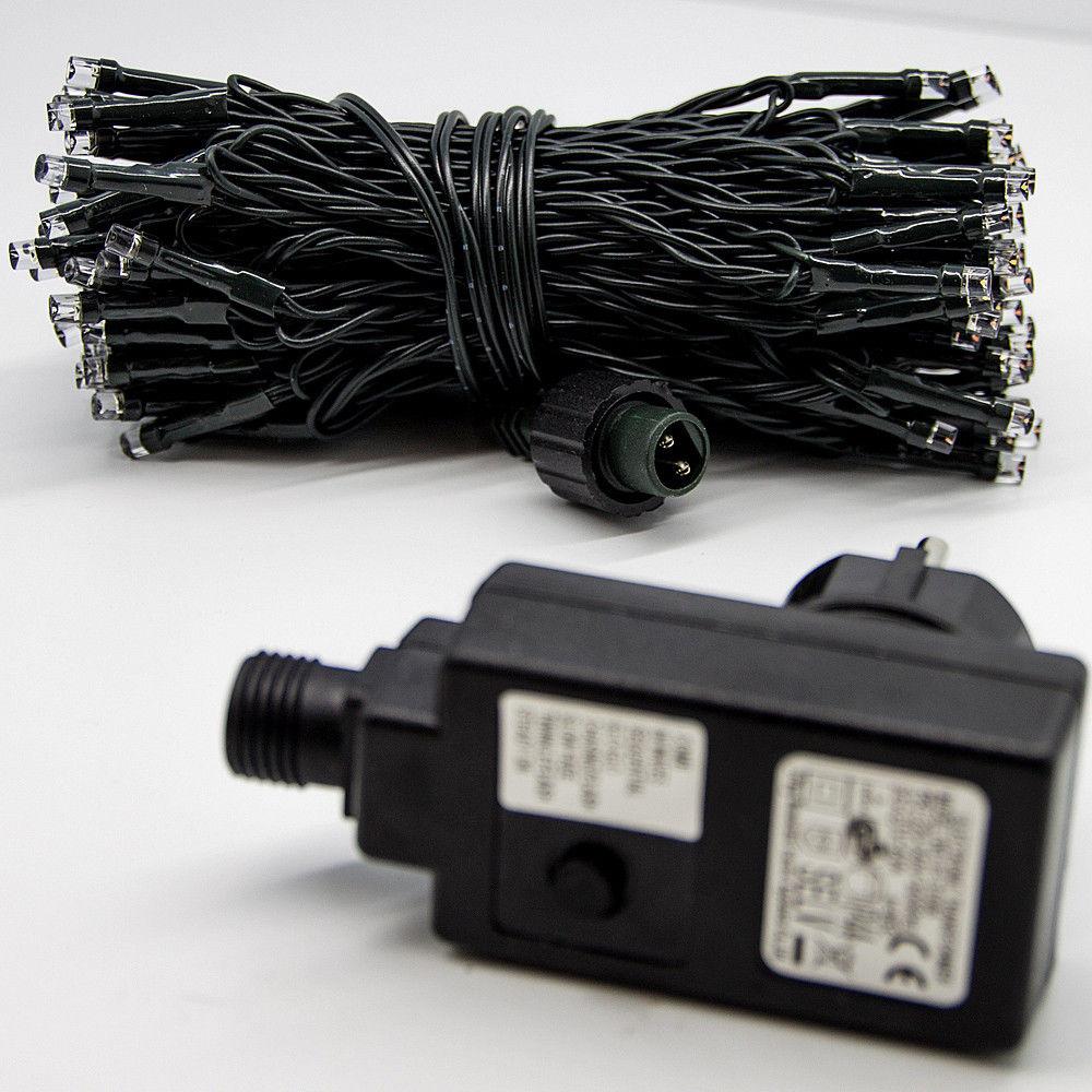 Adapter Für Weihnachtsbeleuchtung.Paket 2x 15m 100 Led Lichterkette Außen Innen Leuchten Party Weihnachtsbeleuchtung