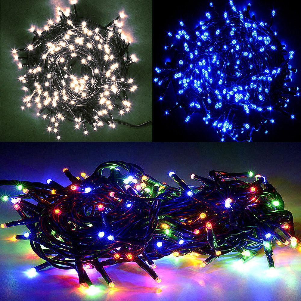 Weihnachtsbeleuchtung Lichterketten Led.Paket 2x 15m 100 Led Lichterkette Außen Innen Leuchten Party Weihnachtsbeleuchtung