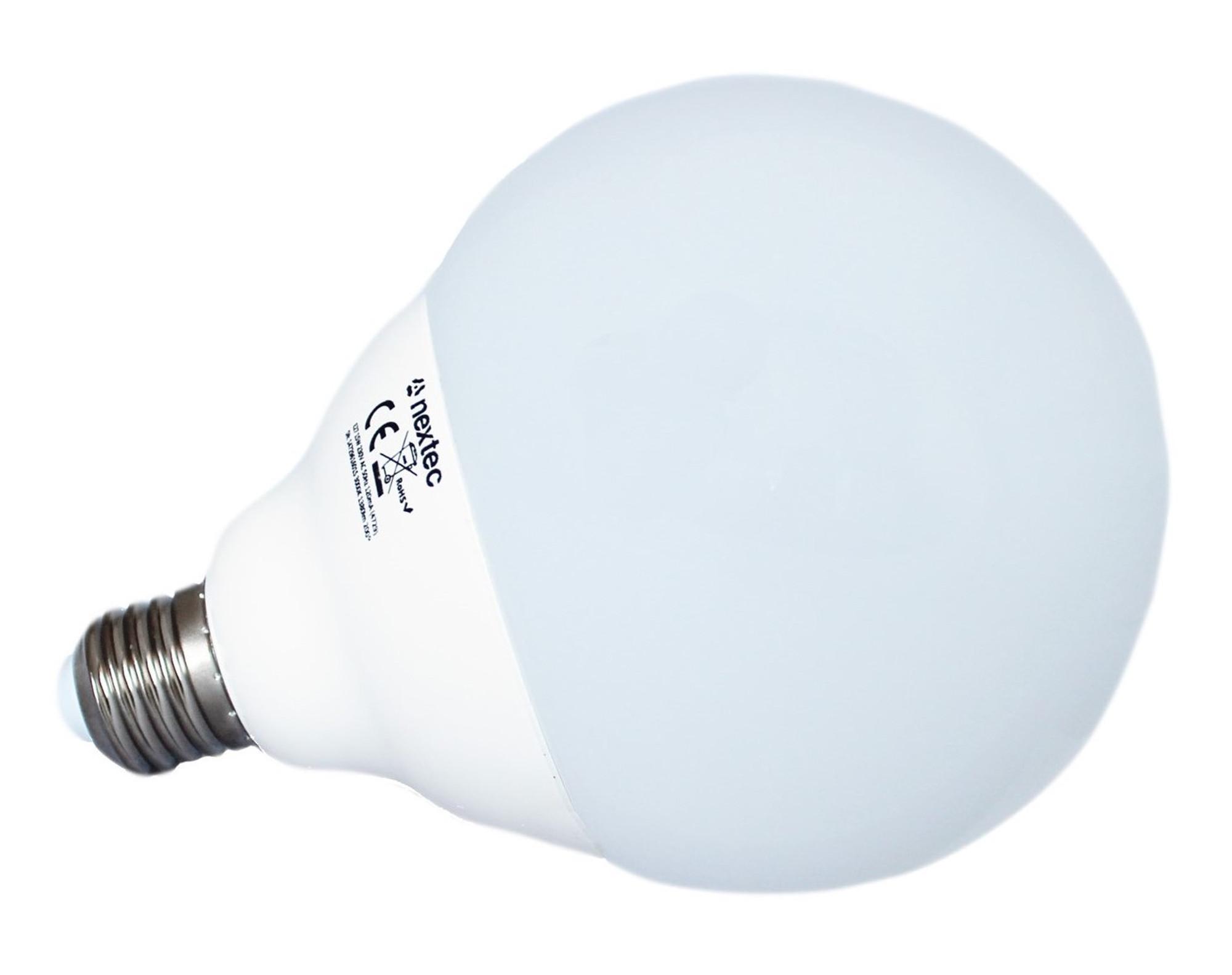 LED E27 Birne Lampe Globe 15 Watt 200° 1380 Lumen 3000K warm weiß ...