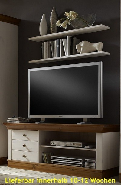 tv schrank lowboard fernsehschrank tv tisch kiefer massiv landhausstil wohnzimmer tv m bel. Black Bedroom Furniture Sets. Home Design Ideas