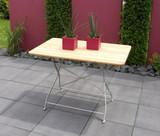 Gartentisch Klapptisch Tisch Esstisch Gartenmöbel Biergarten Robinie mit Stahl
