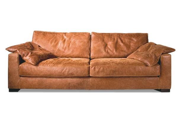 Sofa 2 1 2 Sitz Ledersofa Couch Walnuss Leder Anilinleder