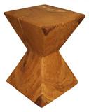 Hocker Baumhocker Schemel Baumstamm X-Shape Massivholz Eiche Holzklotz Unikat
