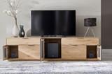 Medienunterteil Lowboard Medienschrank TV-Board Fernsehschrank Wildeiche massiv