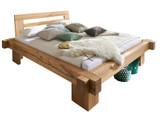 Balkenbett Massivholzbett Bett Holzbett Doppelbett Buche Eiche Zirbe metallfrei