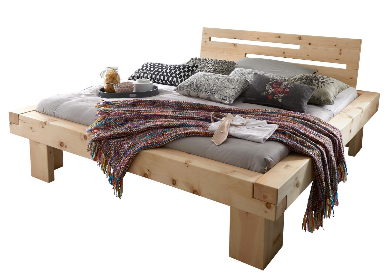 Balkenbett Massivholzbett Bett Holzbett Doppelbett Buche Eiche Zirbe