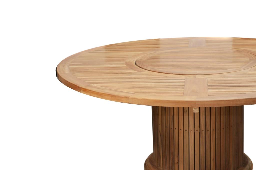 gartentisch tisch rund 160 cm garten dining tisch esstisch drehteller teak fsc ebay. Black Bedroom Furniture Sets. Home Design Ideas