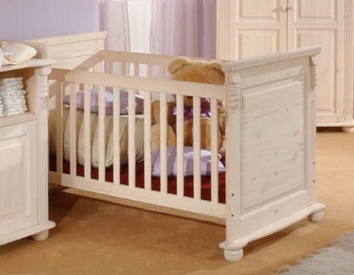 babybett sprossenbett kinderbett bett landhausstil kiefer massiv baby kinder jugendzimmer. Black Bedroom Furniture Sets. Home Design Ideas