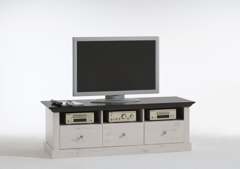 tv tisch tv kommode fernsehtisch fernsehkommode kiefer massiv wohnzimmer tv m bel lowboards racks. Black Bedroom Furniture Sets. Home Design Ideas