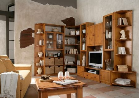 anbauwand wohnwand eckregal tv kernbuche kiefer wildeiche massiv wohnzimmer komplettsets wohnw nde. Black Bedroom Furniture Sets. Home Design Ideas