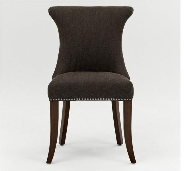 polstersessel polsterstuhl 2er set sessel mit zierngeln stoff beine braun - Esszimmer Mit Sitzgelegenheiten