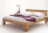 Bett Einzelbett Doppelbett Gästebett Kernbuche massiv geölt verschiedene Größen