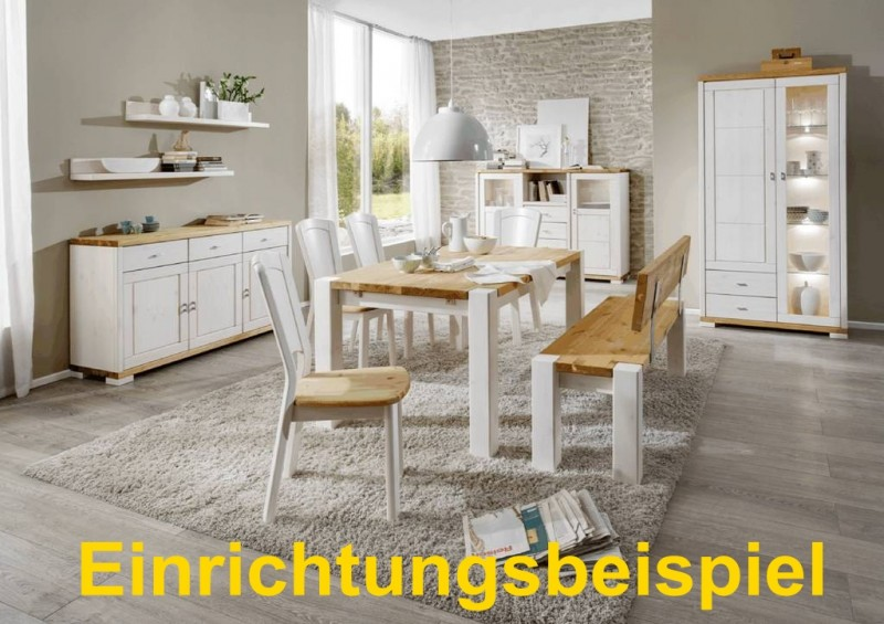 Vitrine Highboard Anrichte Schrank Sideboard Landhausstil Kiefer
