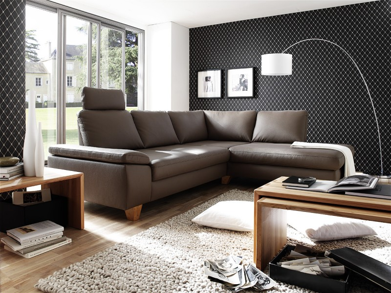 Ledergarnitur Wohnlandschaft Polsterecke Garnitur Couch