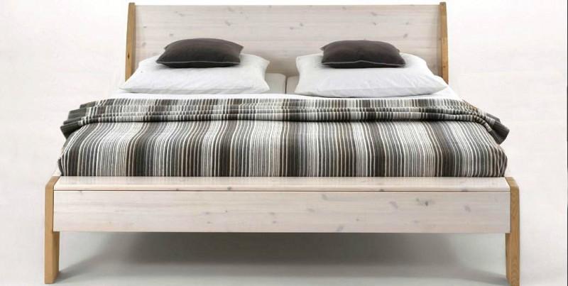 Holzbett massiv weiß  Doppelbett Bett Gästebett französisch Holzbett weiß Kiefer massiv ...