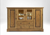 Highboard Sideboard Anrichte Kommode Esszimmerschrank Kiefer massiv patiniert